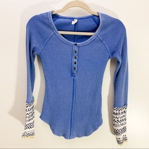 Free People Thermal Blue Size XS